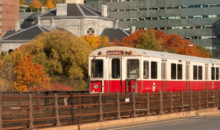 A commuter railline in Boston, Massachusetts