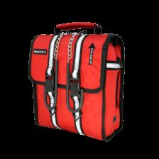 SCH310 red bag with hanger hooks.